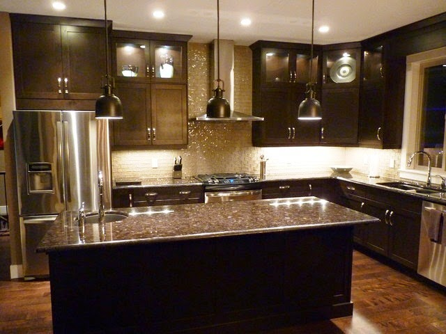dark kitchen cabinets wall color wall painting ideas for kitchen 14465