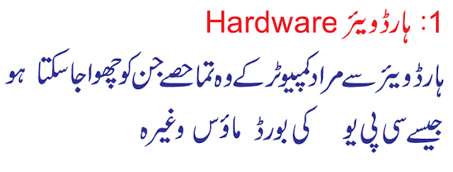 computer information in urdu