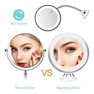 Magnifying LED Lighted Mirror
