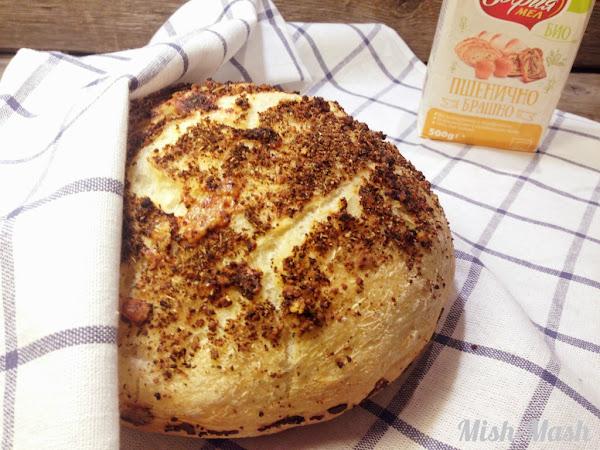 Хрупкав хляб с пармезан без месене