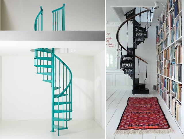 modern spiral stairs for small houses