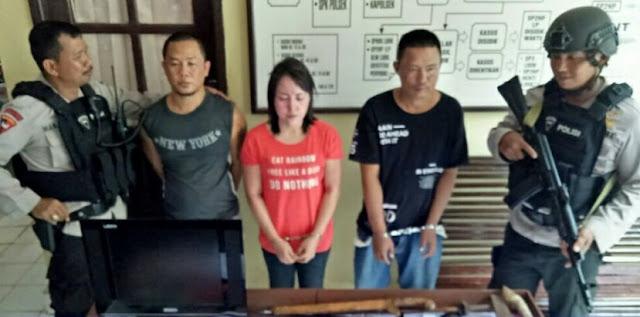 Polisi Bekuk 3 Bandar Narkoba di Desa Serdang Menang