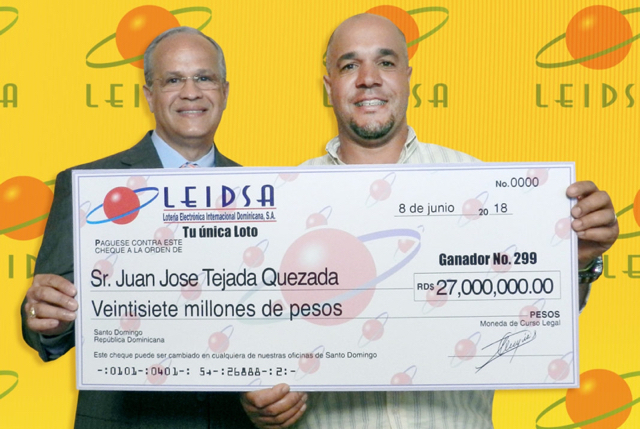 Agricultor ganó 27 millones en LEIDSA