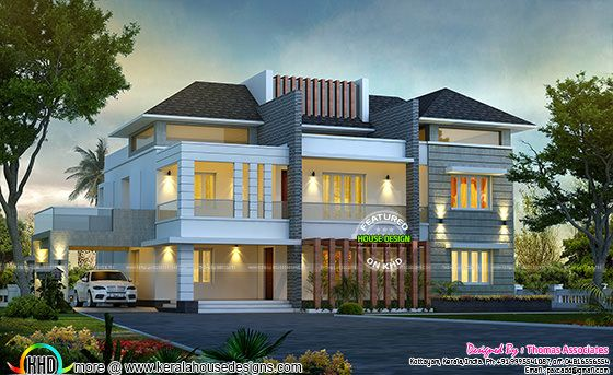 Splendid looking villa architecture plan
