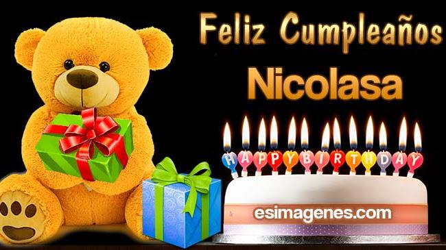Feliz cumpleaños Nicolasa
