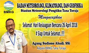 Kepala BMKG Tana Toraja: BPBD Harus Siap Siaga Terhadap Bencana di Toraja