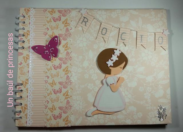 Libro de comunión para niña, portada