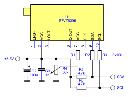 S7VZ6306 Basic tuner connections