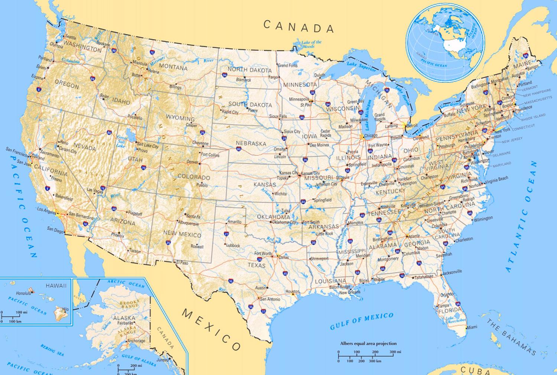 7 Peta Amerika Serikat Berbagai Versi Sejarah Negara Gambar 1