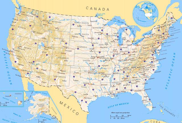 Gambar Peta Amerika 1