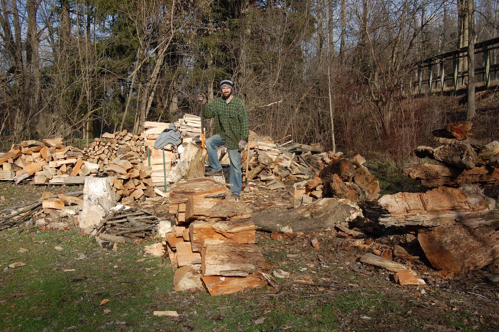 hugelkultur wood pile