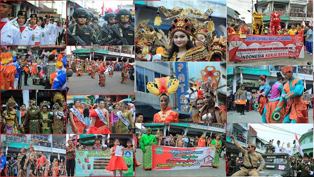 Foto Pawai HUT RI Ke-72 Kota Singkawang