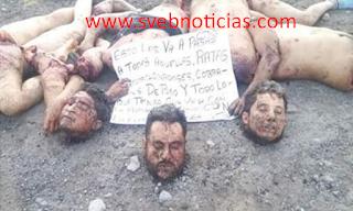 """En Puebla dejan 3 jovenes descuartizados """"levantados en Perote Veracruz"""