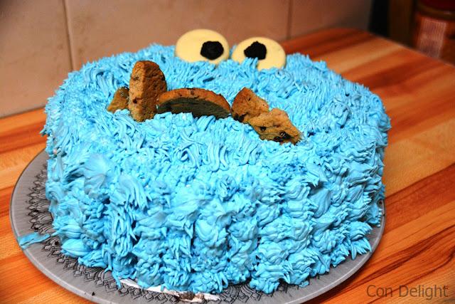 עוגיפלצת עוגה לימי הולדת birthday cake the cookie monster