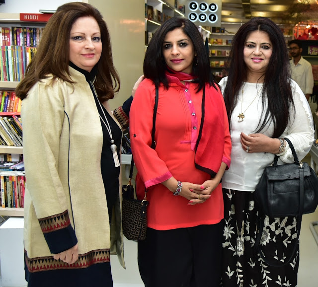 Theatre Personality Sita Raina, Politician and Anchor Shazia Ilmi with Nelofar Currimbhoy