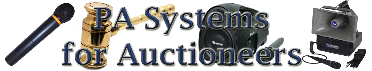 Auctioneer Portable Pa System Auction Equipment