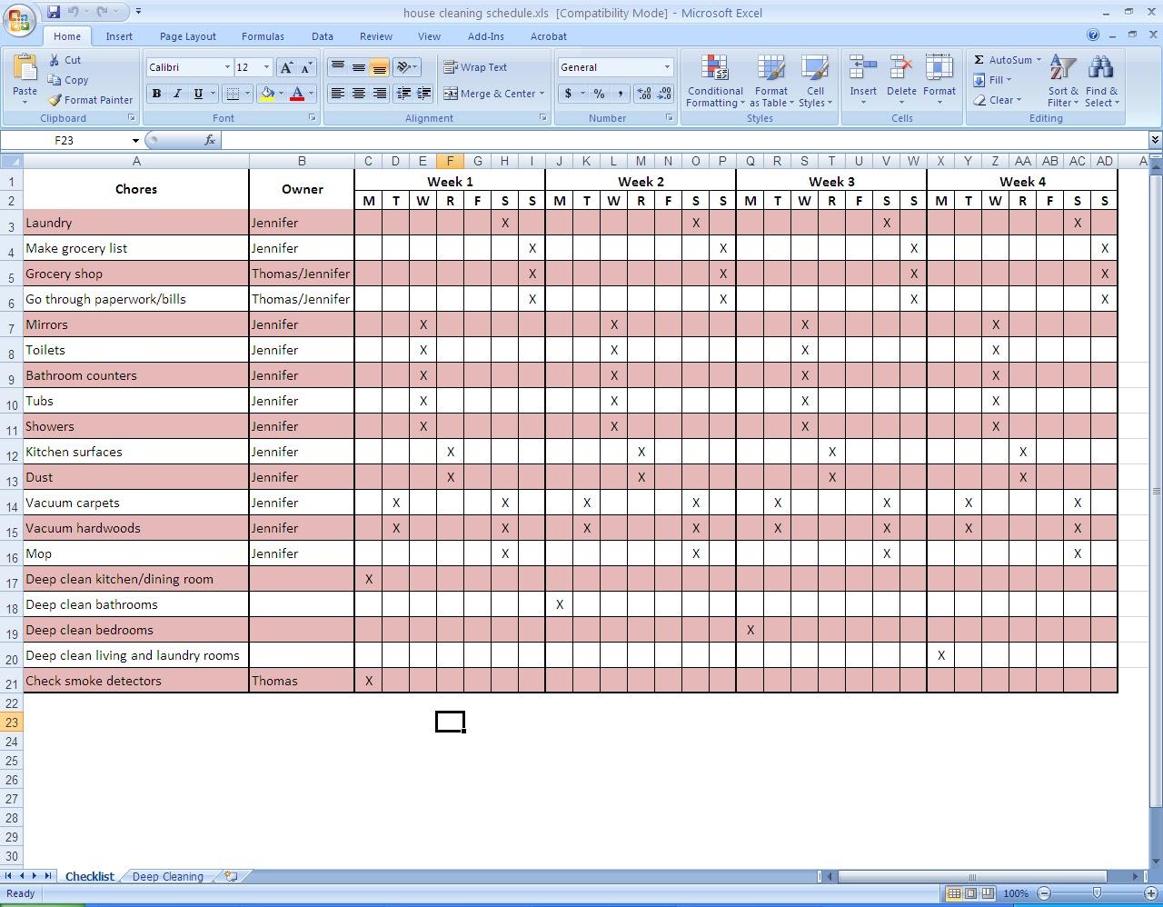 Housekeeping audit templates warehouse mgorka com