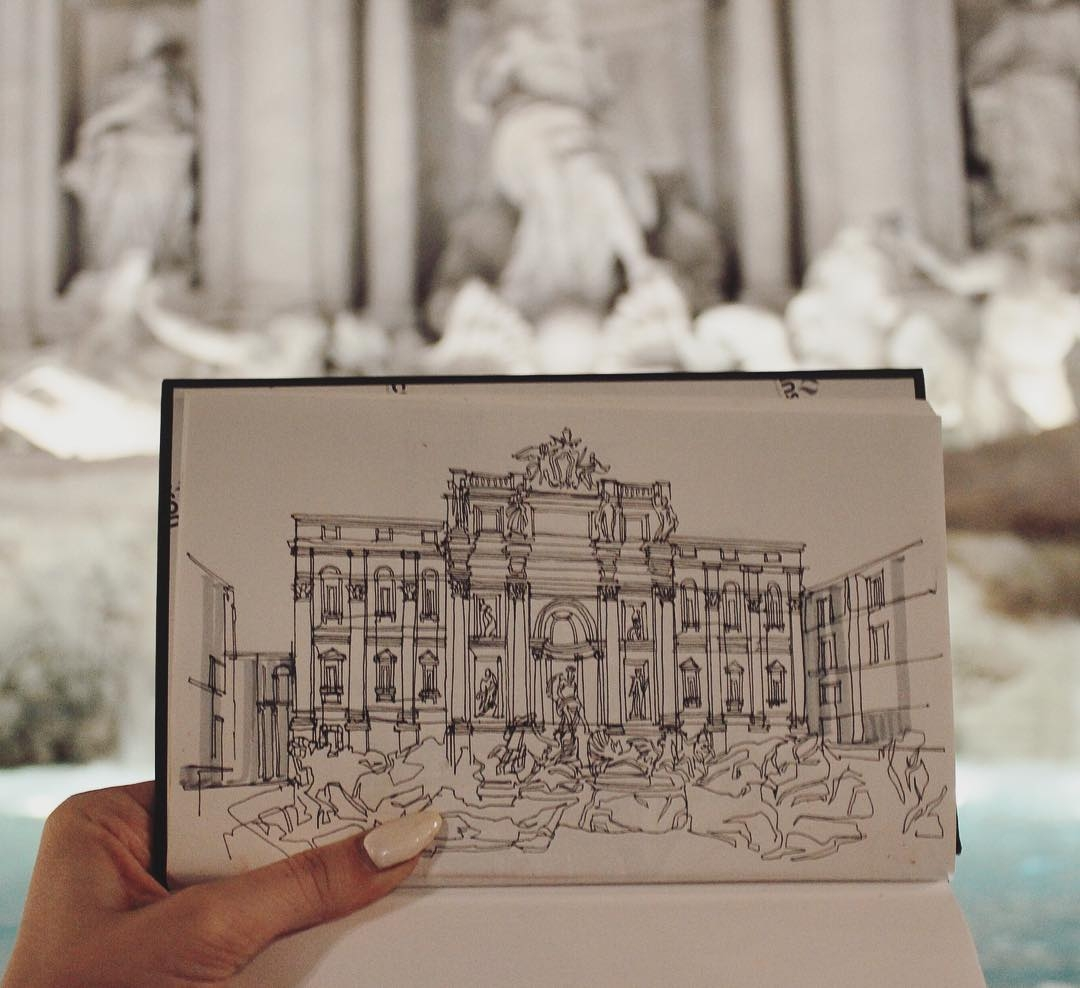 07-Fontana-Di-Trevi-in-Roma-Italy-Adelina-Gareeva-Detailed-Architectural-Recreations-and-Concept-Drawings-www-designstack-co