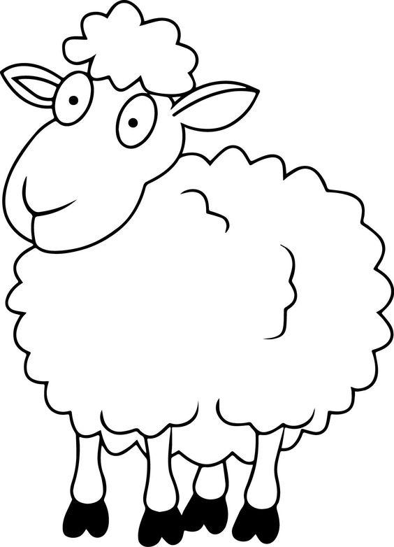 Tranh tô màu con cừu cho bé 5 tuổi