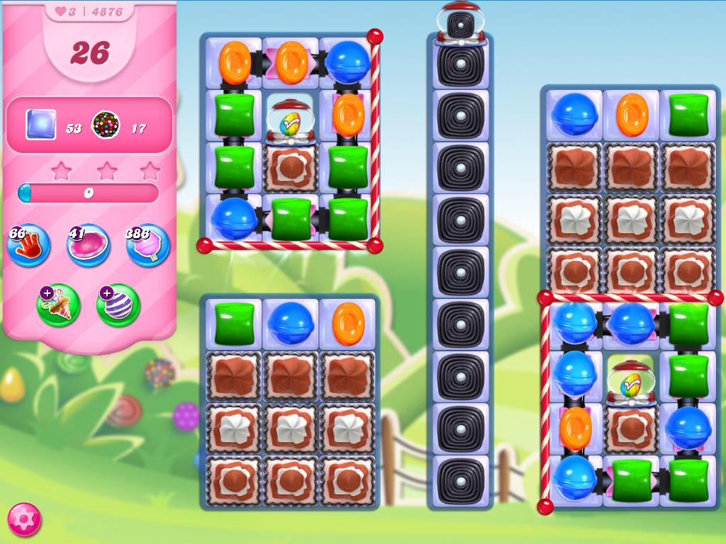 Candy Crush Saga level 4876