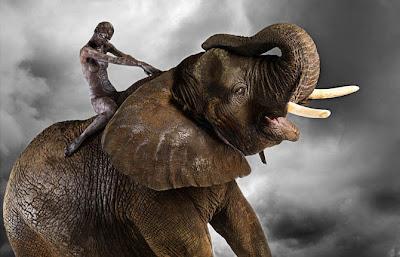 Body paint Elefante Elephant pintar cuerpo