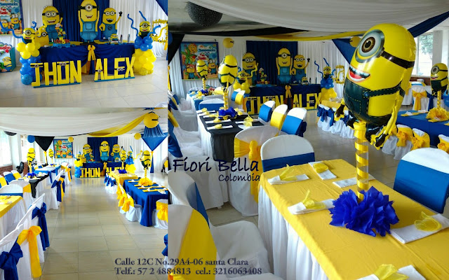 Cumplea os minion fiori bella colombia for Decoracion cumpleanos nina 2 anos
