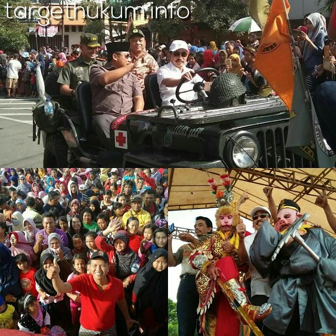 Bupati Pati Hariyanto, Dandim 0718 Pati Terlihat Kompak Dalam Acara Kirab Tahun Baru Imlek