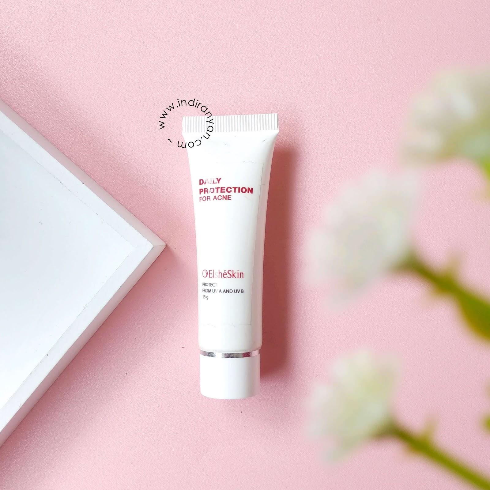 sunscreen-elsheskin, elsheskin-daily-protection-for-acne-skin, review-elsheskin, elsheskin-untuk-kulit-berjerawat, elsheskin-acne-treatment-series