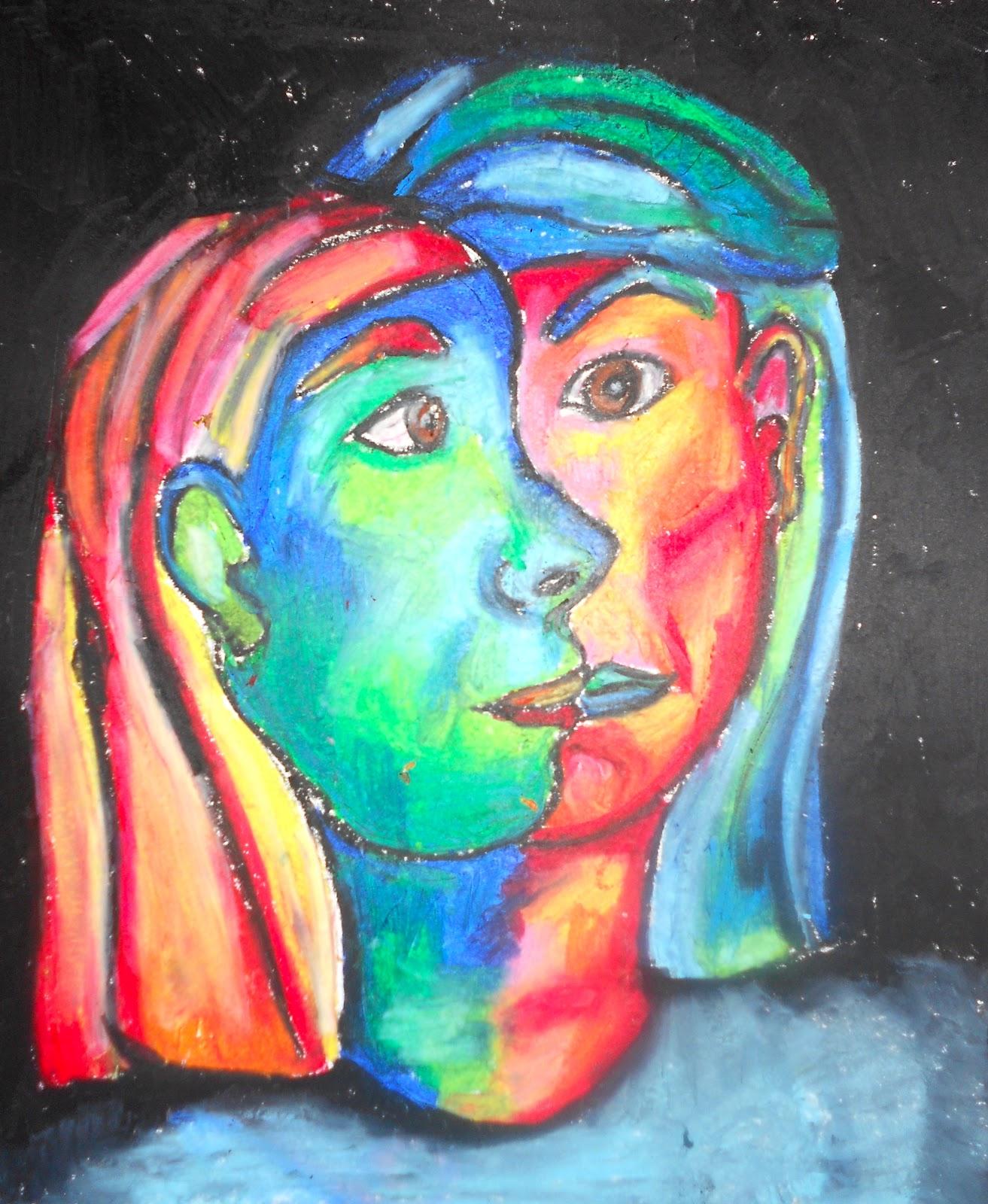 Art Eat Tie Dye Repeat 5th Grade Picasso Cubism Portraits