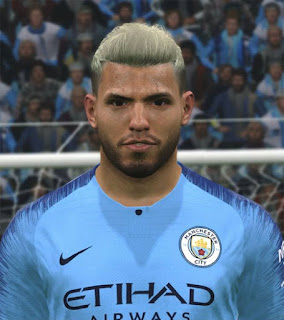 "PES 2017 Faces Sergio ""Kun"" Agüero by ABW_FaceEdit"