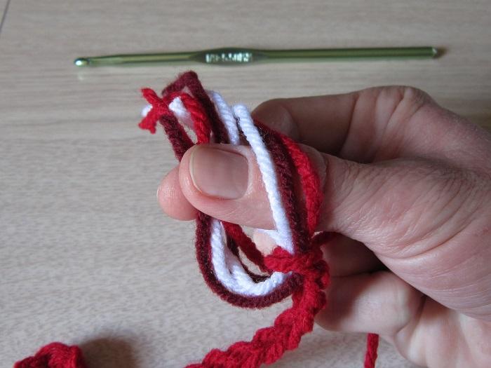 crochet, tassels, heart garland