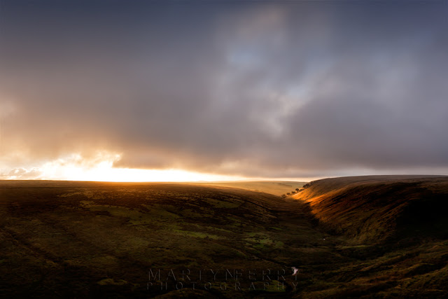 Exe Valley in Exmoor National Park catches the sunrise by Martyn Ferry Photography