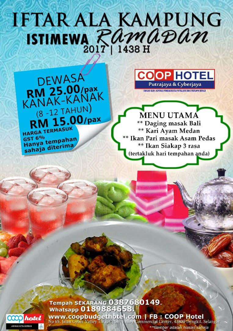 buffet ramadhan coop hotel putrajaya