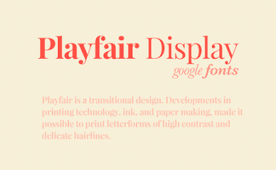 playfair display typeface download