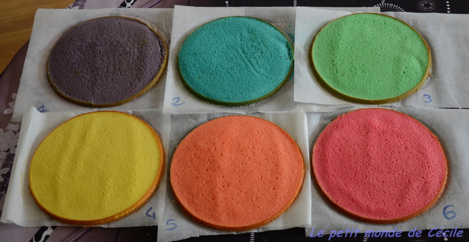 Genoise Pour Rainbow Cake