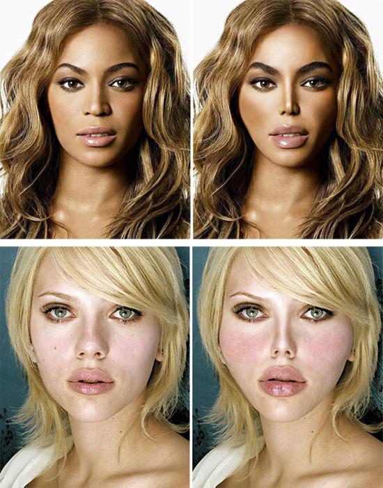 Plásticas - Beyoncé e Scarlet Johansson