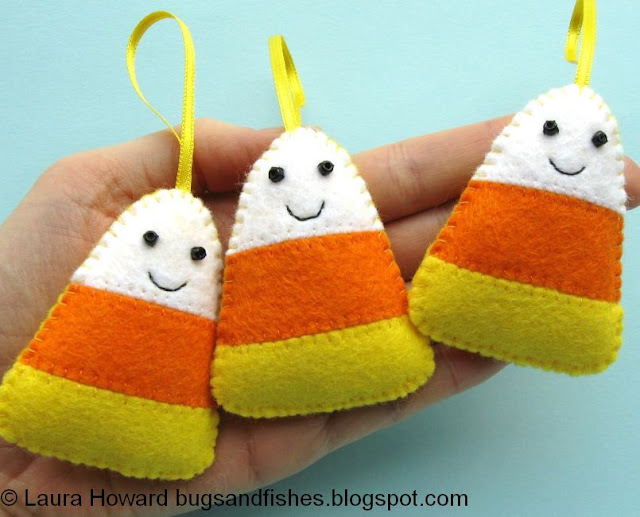 http://bugsandfishes.blogspot.com/2014/10/how-to-felt-candy-corn-ornaments.html