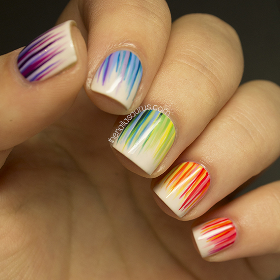 31DC2013 Day 9: Rainbow Nails - The Nailasaurus