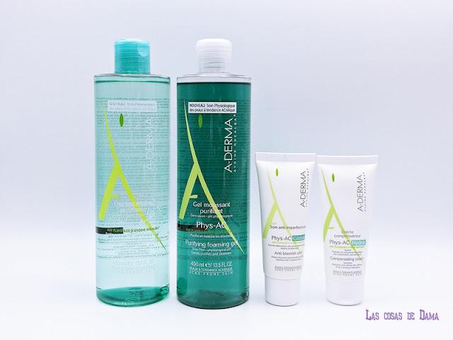 Phys-AC de A-Aderma acné piel sensible piel frágil farmacia dermocosmetica belelza skincare cuidado piel