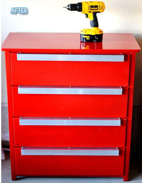 Tool Chest Dresser Makeover: FleaChic: Flea Market Savvy: Let's Roll Up Our Sleeves And