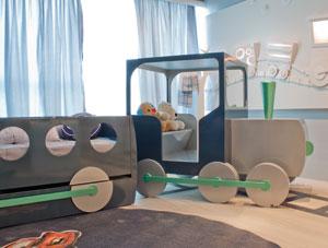 Dormitorio ferrocarril para gemelos o mellizos bebes via - Habitaciones para bebes gemelos ...