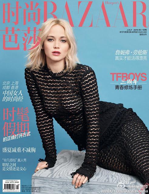 Actress, @ Jennifer Lawrence - Harper's Bazaar China July 2016