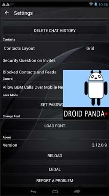 BBM Mod Dark Grey V2.12.0.9 apk