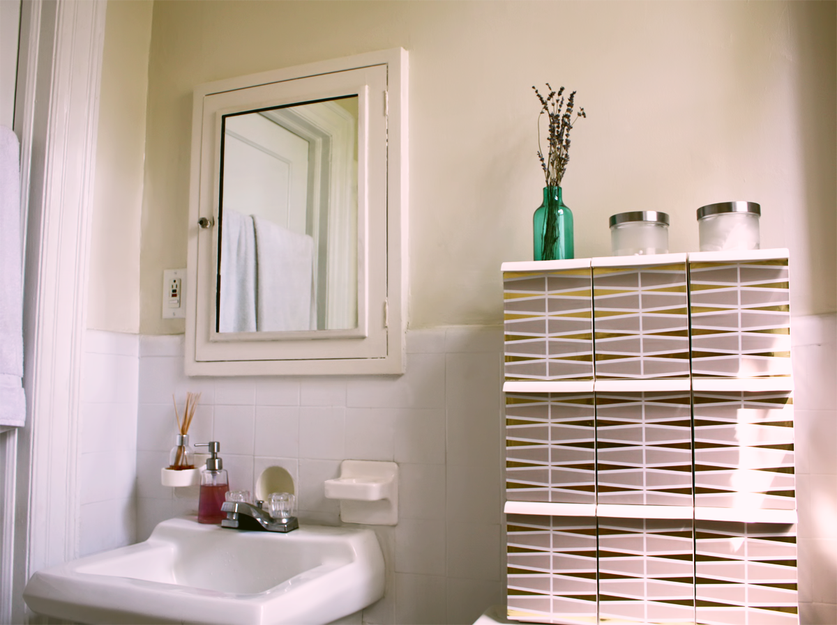 Interior Design Q & A: DIY Bathroom Cabinet & Vitamin Box