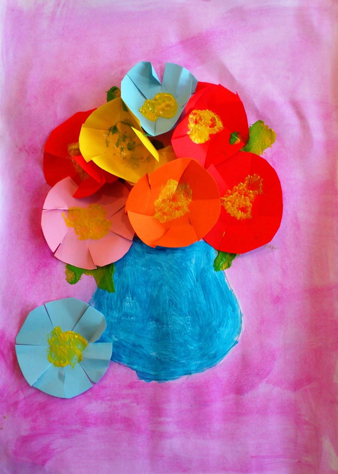 Vas cu flori de toamnă colaj