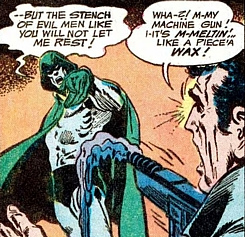 Adventure Comics #431, the Spectre melts the gun of a killer, Jim Aparo