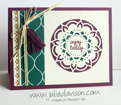 Stampin' Up! Eastern Palace ~ Eastern Beauty Die Cut Medallion Card ~ 2017-2018 Annual Catalog ~ www.juliedavison.com