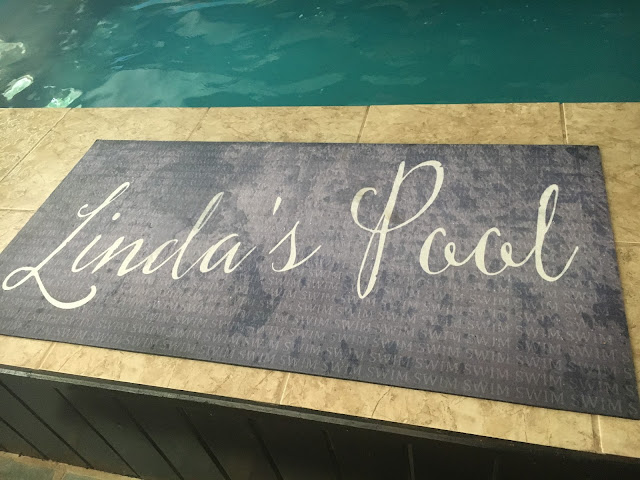 "The mat Linda B. uses to claim ""my most prized possession,"" her Original Endless Pool"