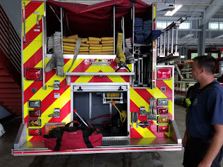 Back of fire truck