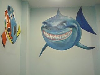ejemplos de trabajos realizados de pintura mural decorativa realizado por un muralista de cuentos en paredes para los ms pequeos
